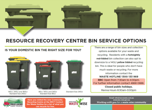 Resource Recovery Bin Service Options